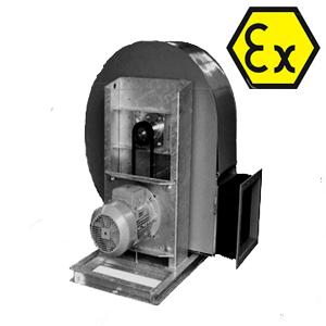 VRE explosieveilige snaargedreven kunststof ventilator Mietzsch DE WIT ventilatoren