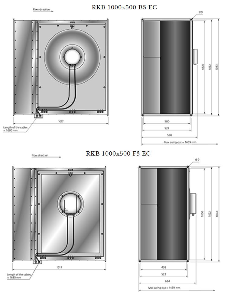 RKB 1000x500-EC-rechthoekige-kanaalventilator-Ostberg