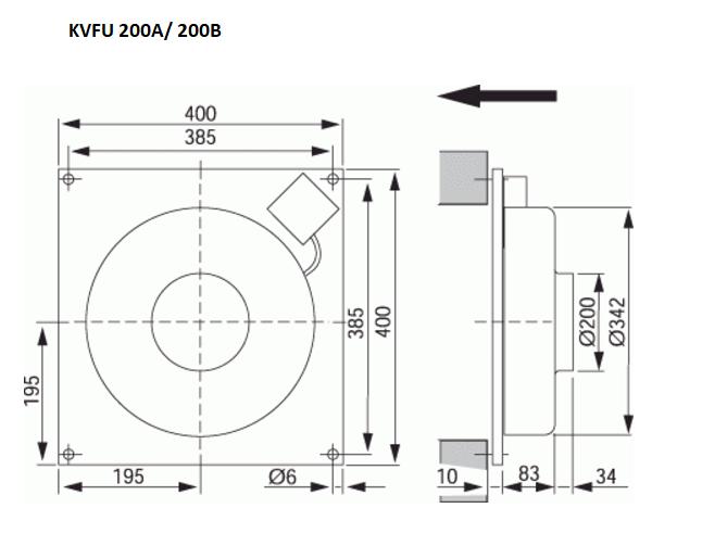 KVFU 200 wandventilator Ostberg