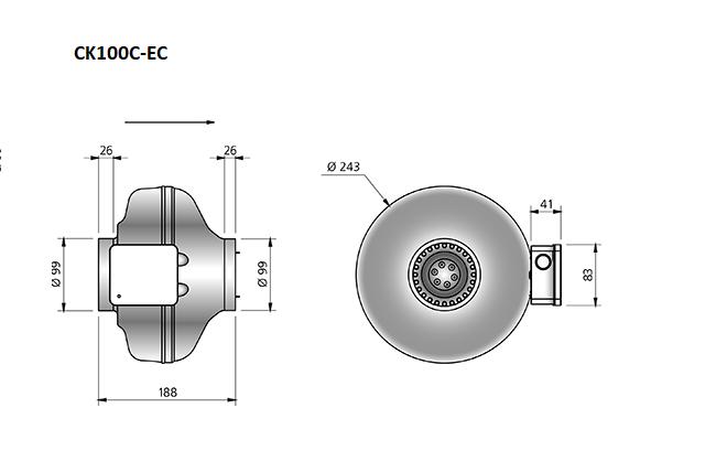 CK100C-EC-buisventilator-maatvoering-Ostberg