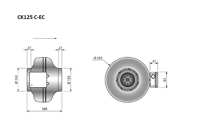 CK125C-EC-buisventilator-maatvoering-Ostberg