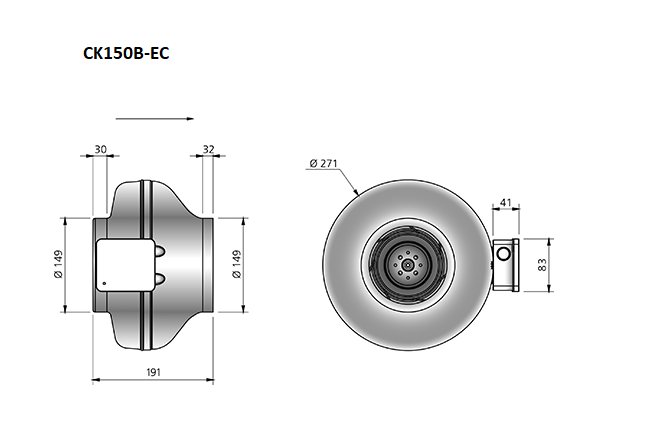 CK150B-EC-buisventilator-maatvoering-Ostberg