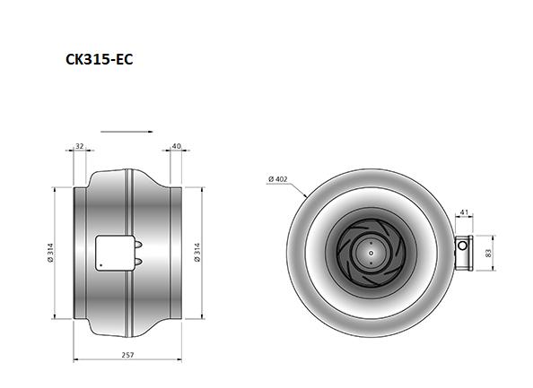 CK315-EC-buisventilator-maatvoering-Ostberg