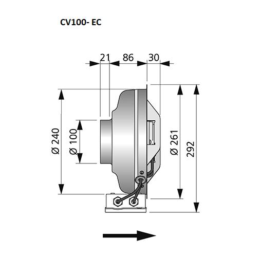 CV100-EC-wandventilator-gelijkstroom