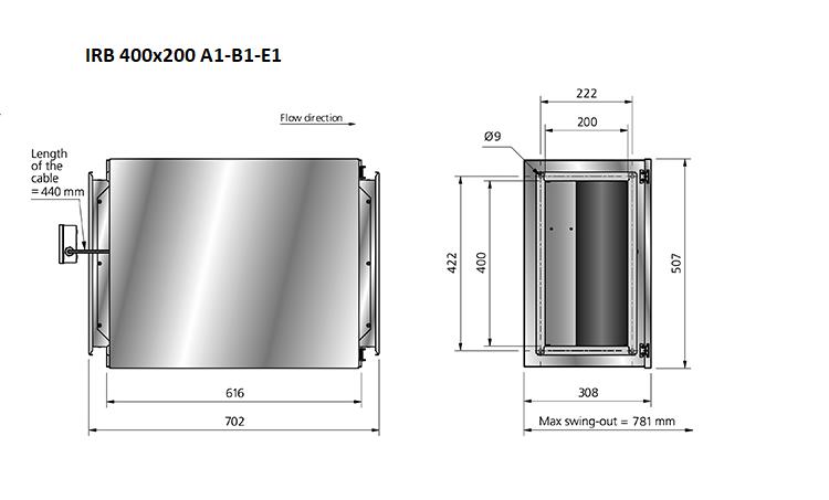 IRB400x200-boxventilator-maatvoering- DEWITventilatoren