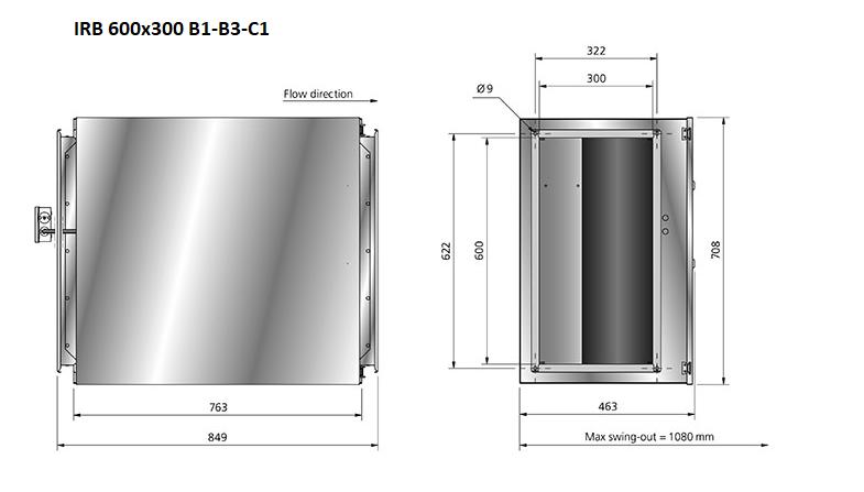 IRB600x300-boxventilator-maatvoering-DEWITventilatoren