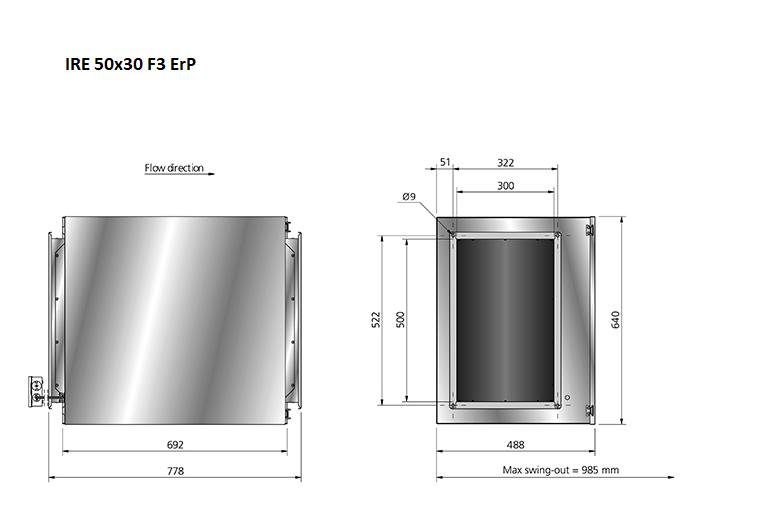 IRE50x30-boxventilator-maatvoering-Ostberg