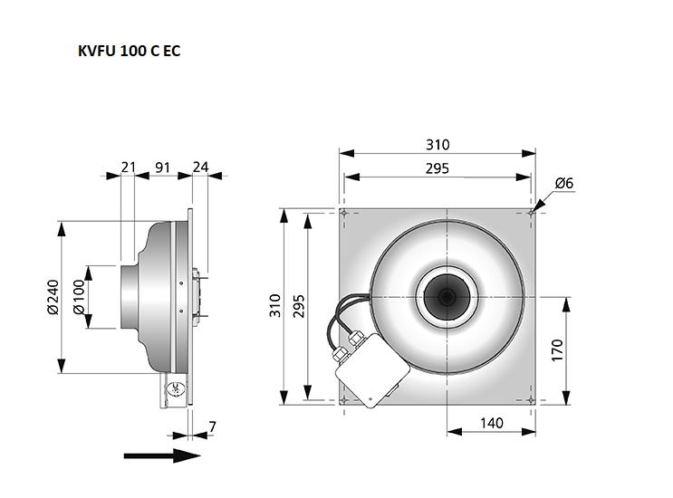 KVFU100C-EC-maatvoering-wandventilator-Östberg