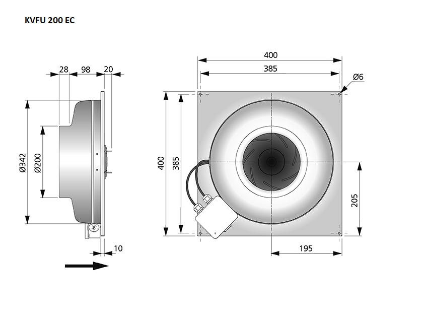 KVFU200-EC-maatvoering-wandeventilator