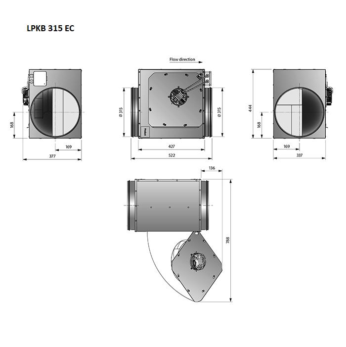 LPKB315EC-kanaalventilator-gelijkstroom