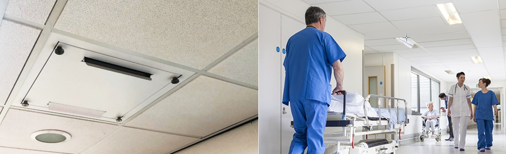 UV-luchtreiniger plug&play voor systeemplafond