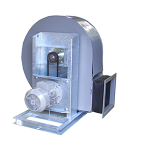 VRE-riemgedreven kunststof centrifugaal ventilator