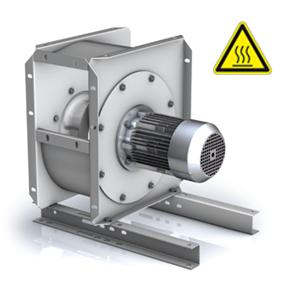 P2M centrifugaal ventilator direct gedreven 300ºC.